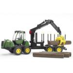 Bruder John Deere traktor rönkrakodóval 02133