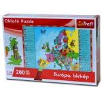 Trefl Oktató puzzle 200 db-os Európa térkép 15506