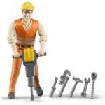 Bruder Építőipari munkás munkaeszközökkel 60020